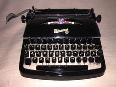 Vintage portable typewriter Rheinmetall KsT mechanische Schreibmaschine von nostalgiehauscom auf Etsy