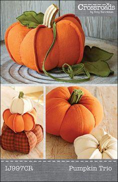 Pumpkin Trio ePattern PDF | Sewing Pattern | YouCanMakeThis.com