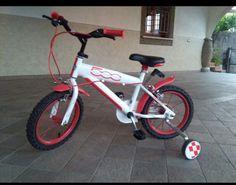Bici bimbo, con rotelle, fiat 500 bianca 3-5 anni