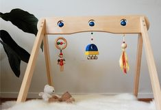 Diy wood baby projects 24 ideas for 2019 Wood Baby Gym, Diy Baby Gym, Diy Wood Projects, Wood Crafts, Craft Gifts, Diy Gifts, Diy Tumblr, Kids Wood, Wooden Diy