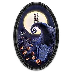Nightmare Before Christmas Glow In The Dark Collector Plate with 2 Names