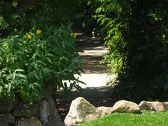 Fairy way entry, leads to the courtyard at the master bedroom
