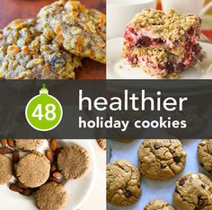 Baking some cookies to leave for Santa? Try these healthier versions from Greatist. {http://goo.gl/kdTx7F}