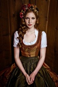 Gorgeous Dirndl - bonus- you don't have to look like a slut (you know how 9 out of 10 Americans look in theirs)