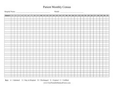 When A Patient Has Been Discharged This Printable Hospital Form
