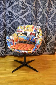 Comic book chair @Betsy Buttram Laurence check it out!