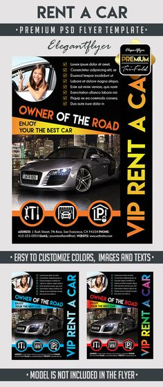 Rent a car Flyer Flyers, As and Cars - car flyer template