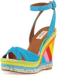 Valentino Multicolor Espadrille Wedge Sandal on shopstyle.com.au  yum!
