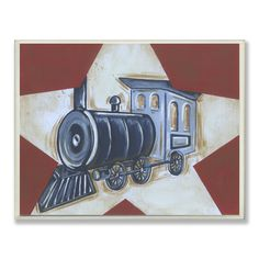 Found it at Wayfair - The Kids Room Train Star Rectangle Wall Plaque