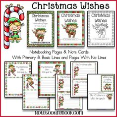 Free Christmas Wishes Notebooking Pages & Note Cards from Notebooking Nook