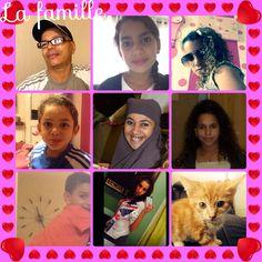 Ma famille et moi avec le lunette