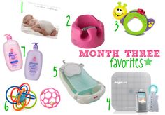 Month Three Baby Favorites
