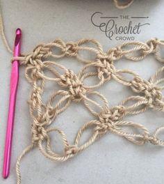 Gilet Crochet, Crochet Scarves, Crochet Shawl, Crochet Hooks, Knit Crochet, Crochet Curtains, Crochet Stitches Patterns, Crochet Designs, Stitch Patterns