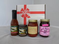 Crantastic Grilling Gift Box - Includes Wisconsin Wilderness Cranberry Grilling Sauce and Cranberry Horseradish Mustard, Spirit Valley Cranberry Salsa and Big Butz Cranberry BBQ Sauce. #FathersDay #Grilling #Cranberries