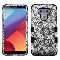 MYBAT TUFF Graphics LG G6 Case - Four-Leaf Clover/2D Silver
