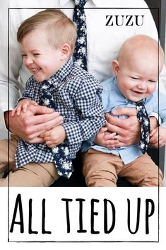 Zuzu ties are the perfect addition to your regular wardrobe - both for you AND your little dudes! What is better than matching while looking completely dapper and handsome? We agree...Nothing!