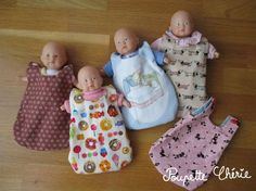 DIY: Sleeping tutorial for doll Ultra Easy Level … – Ma Poupette Chérie Baby Doll Clothes, Crochet Doll Clothes, Diy Clothes, Baby Dolls, Sewing For Kids, Diy For Kids, Doll Carrier, Baby Couture, Diy Doll