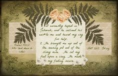Psalms 40:1,2 NWT 2013 JW.org http://www.raspberryroaddesigns.net  Visit this sight to find the free elements I used here.  None of the elements here are my own.  I do not know whom to credit for the lovely background.  ASW