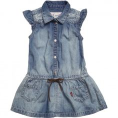 Designer Dresses for Girls Girls Denim Shirt, Blue Denim Shirt, Baby Jeans, Denim Shirt Dress, Shirts For Girls, Girls Designer Dresses, Girls Dresses, Kids Dress Wear, Baby Dress Design