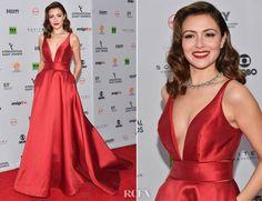 Italia Ricci In Mac Duggal – 45th International Emmy Awards 2017