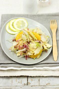 zucchero e viole vegan-vegetarian blog: Insalata di carciofi, finocchi e arancia ai semi di canapa