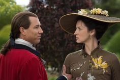 Jack Randall and Claire unexpectedly meet at Versailles - Outlander, Season Two