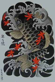 昇り鯉 by SAMON TATTOO, via Flickr