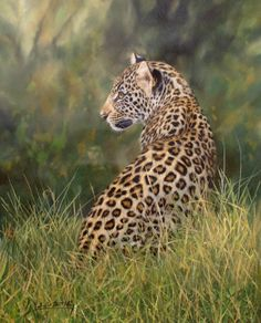 Leopard painting by David Stribbling