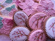 The Adorned Cookie: Cherry Blossom Cookies: Three Ways