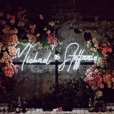 Neon Wedding Sign