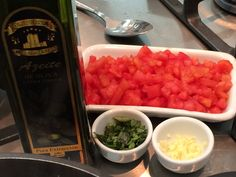 Mise in place Molho crudo