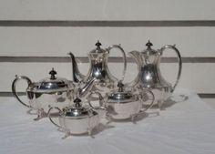 ART Deco Hecworth Silver 5 Piece Epns A1 Coffee TEA Service | eBay