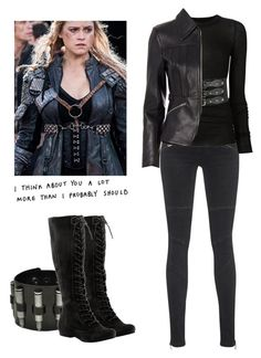 Clarke Griffin - The 100 by shadyannon on Polyvore featuring polyvore fashion style Rick Owens Alexander Wang TIGHA Forever 21 Nine West clothing
