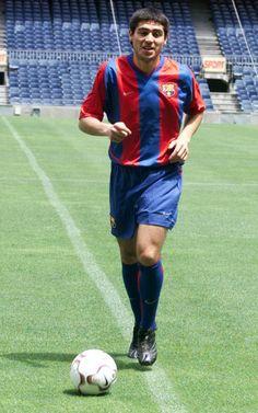 Juan Román Riquelme, el día de su presentación como jugador del FC Barcelona