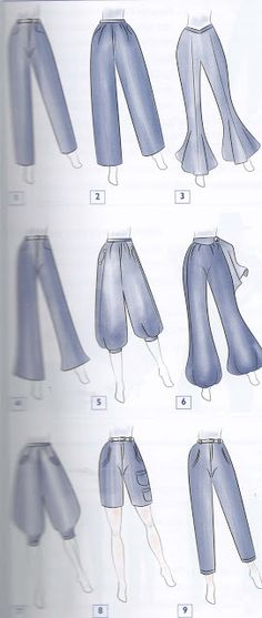 Types of pants - Best Fashions for All Dress Design Sketches, Fashion Design Sketchbook, Fashion Design Drawings, Fashion Sketches, Fashion Terms, Fashion Art, Fashion Outfits, Dress Drawing, Drawing Clothes