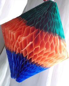 TMVbijoux: Como fazer balão colmeia com cores horizontais