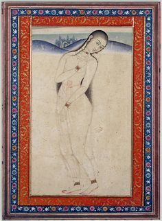 A woman in a landscape Artist: Shaikh Abbasi century, Iran, Isfahan Opaque watercolor and gold on paper Dimensions: 6 in. cm x cm) Accession Number: The San Diego Museum of Art Big Wall Art, Esoteric Art, Islamic Paintings, Persian Motifs, Iranian Art, Illusion Art, Figure Painting, Islamic Art, Figurative Art