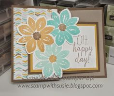 Stampin' Up!- Oh Happy Day!!  I used the 'Petal Potpourri' and coordinating punch, along with the words from the set- 'Build A Bouquet'!