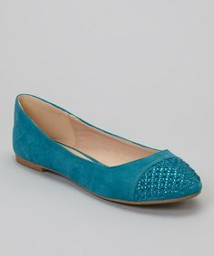 Take a look at this Teal Sasha Flat by Mixx Shuz on #zulily today!