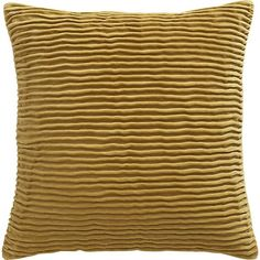 "Lyra Honey 20"" Pillow in Decorative Pillows | Crate and Barrel"
