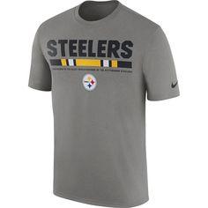 Men s Nike Charcoal Pittsburgh Steelers Sideline Legend Staff Performance T- Shirt 826e20132