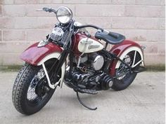 1950 Harley-Davidson Motorcycle.  I can't get enough of these old bikes.