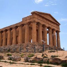 UNESCO World Heritage Site: Valley of the Temples at Agrigento in southern Sicily. Temple of Concordia viewed from the western end. It was built so that sailors out at sea could sea it and be guided home. It is certainly impressive