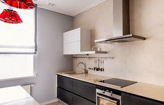 Кухня в стиле лофт цвета венге 4 метра