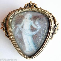 Antique Art Nouveau Boucheron Brooch Gold Miniature Plaque Dancer Paris 5400 | eBay