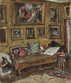 Gheorghe Petraşcu - Interior in atelierul artistului Venice Biennale, Building Art, Studio Interior, Renoir, Painters, Museum, Texture, Artwork, Art Ideas