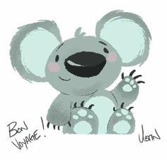Something I did for a coworker leaving for Australia #Australia #koala #sketch…