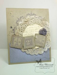 Jan Class 2013 - Vintage Postage Due by TamiC - Cards and Paper Crafts at Splitcoaststampers