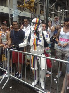 When I saw this fabulous stormtrooper. | 33 Moments From The N.Y.C. Gay Pride Parade That Made Me Smile
