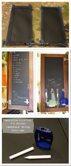 Convert the insides of your kitchen cupboards into chalkboards to write yourself cooking notes, add baking equivalents, hang measuring cups ...